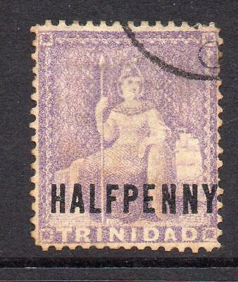 Trinidad 1/2d Lilac Stamp c1879-82  Used (s133) (toning)