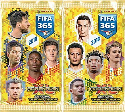 PANINI ADRENALYN XL 2018 FIFA 365 SOCCER TRADING CARDS x 10 BOOSTER PACKS