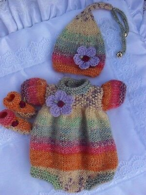 """Private Order For Cynthia  (Hand Knitted Rompers 12"""" -13"""" Reborn Dolls )"""