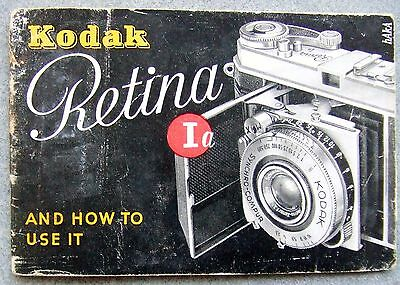 KODAK RETINA 1a INSTRUCTION MANUAL.