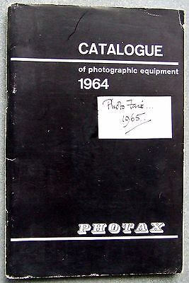 Photax Photographic Catalogue 1964