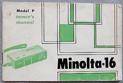 Minolta -16 Model P Instruction Manual.