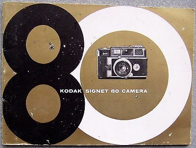 Kodak Signet 80 Instruction Manual.