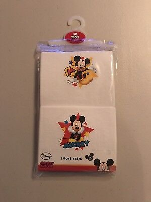 Baby Boys Disney Mickey Mouse Clubhouse Vests 18/24 Months NEW BNWT CHRISTMAS 🎄