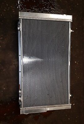 subaru impreza classic gc8 large alloy radiator and fan surround/high flow fans