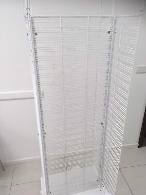 Spinning White Mesh Display Stand Shop Fitting