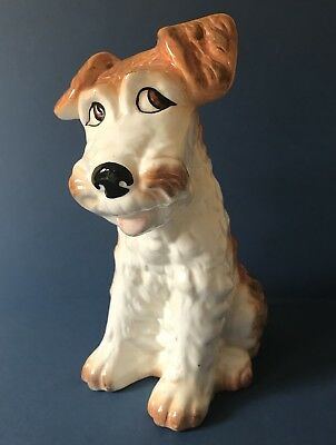 "Stunning Sylvac Large 8"" Terrier Dog Figure Pottery No. 1379"