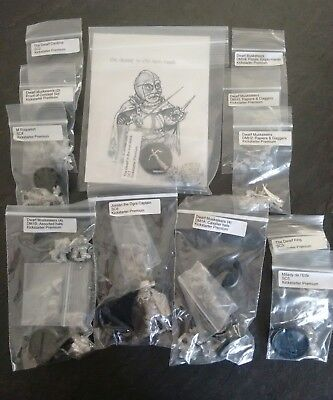 Iron Mask miniatures dwarf musketeers kickstarter job lot