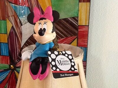 HTF Disney MINNIE MOUSE PLANT POT HANGER  SITS ON EDGE OF POTS or Lampshades