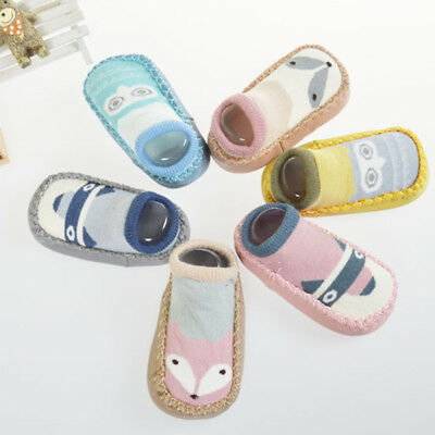 Infant Baby Girls Kid Non-slip Socks Warm Winter casual Cartoon Booties Slipper