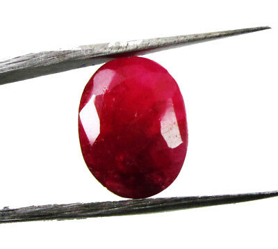 7.50Ct. Natural Oval Cut  Untreated Red Color Ruby Loose  Gemstone for Ring 6322