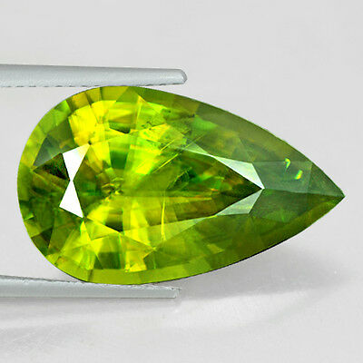 12.36 Cts Natural Top Sphene Unheated Madagascar Pear Cut Loose Gemstone Awesome