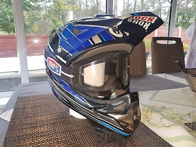 661 full face helmet with 100% goggles