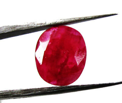 4.10Ct. Natural Oval Cut  Untreated Red Color Ruby Loose  Gemstone for Ring 6327