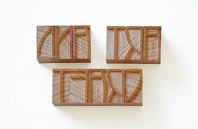 Letterpress Art and Craft wood type, 8 line - 129 pieces