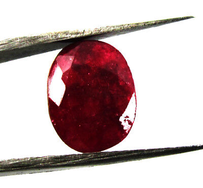 6.15Ct. Natural Oval Cut  Untreated Red Color Ruby Loose  Gemstone for Ring 6428