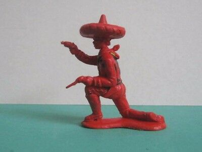 1 x CRESCENT # C24. WILD WEST MEXICAN 1960's PLASTIC TOY SOLDIER.  1/32 to clear