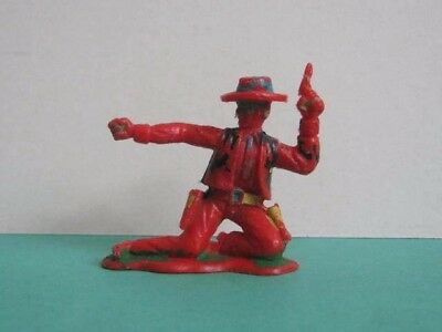 1 x CRESCENT # C13. WILD WEST COWBOY 1960's PLASTIC TOY SOLDIER.  1/32 to clear