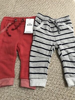 BNWT Marks And Spencer's Baby Boy 9-12 Month Trousers Jogging Bottoms Def