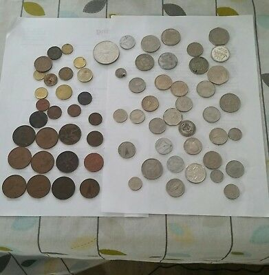 Britsh & Foreign Coin Collection, 67 Assorted Coins.Some Rare,  See Descriptions