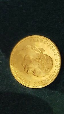 Austrian 1 Ducat Gold Coin 1915.1107 Troy. Uncirculated,in its presentation box.