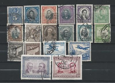 Chile: selection of FU older stamps