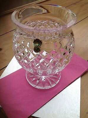 Waterford crystal bowl/vase unusual piece