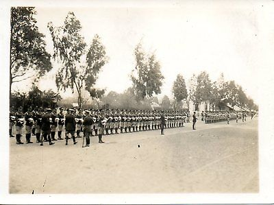 BRITISH SOLDIERS LINING UP FOR INSPECTION cWW2 MILITARY PHOTOGRAPH