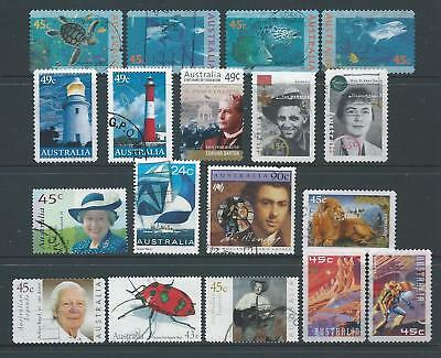 Australia: FU nice selection of stamps