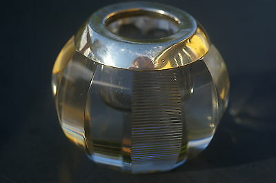 Antique Glass and German 800 Silver Match Strike / Table Vesta