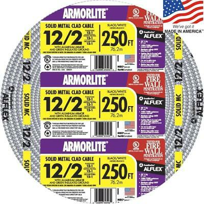 Southwire Armorlite 250' 12/2 Solid Aluminum MC Cable for Exposed/Concealed/Wet
