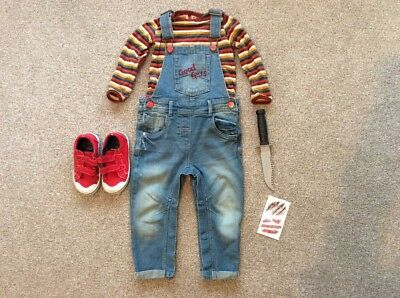 Boys Girls Chucky Halloween Outfit Baby Toddler Age 18-24 Months 1.5-2 Years