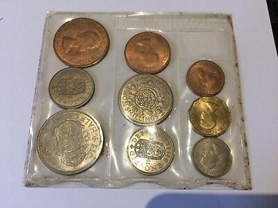 1953 Uncirculated Coin Set - Half Crown, Florin, Shilling, sixpence, farthing