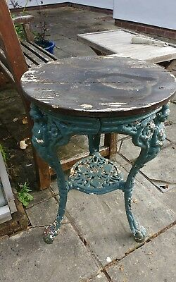 Old Cast Iron Pub Table