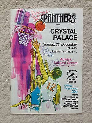 National Basketball League Doncaster vs Crystal Palace *autographed* 1981