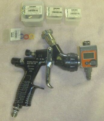 Devilbiss Tekna Prolite Spray Gun TE20 Cap w/ Digital Pressure Gauge