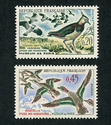 FRANCE 1960 Study of Bird Migration, SET OF 2, MINT Never Hinged