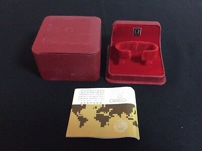 OMEGA VINTAGE WATCH BOX + Guarantee booklet +  FREE SHIPPING