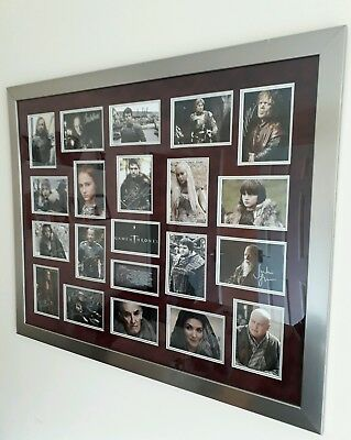 Signed Game of Thrones cast framed collage, 19 signatures