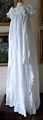 Antique Embroidered Baby Gown Very Long
