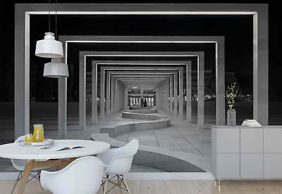 Frames Colonnade Open Tunnel Square Photo Wallpaper Wall Mural (1X-707174)