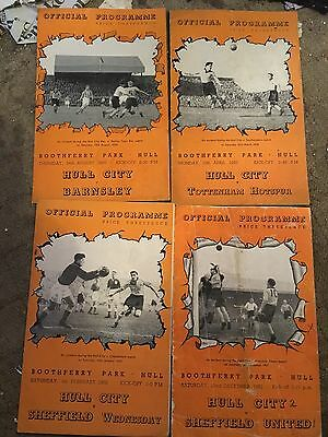 Four Hull City programmes from 1950's