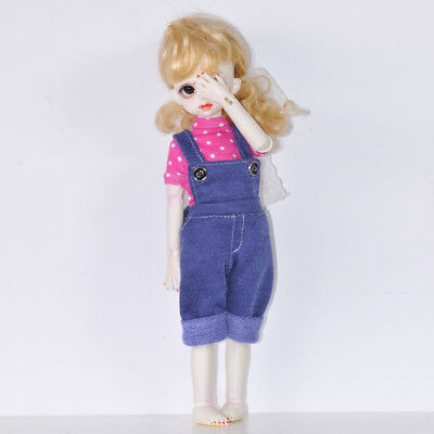 Casual Bib Jeans Pants for 1/6 SD DOD BJD Dollfie Doll Clothes Dress Up Accs