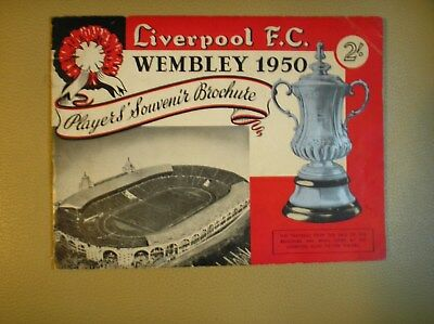 Liverpool F.C.Player's Souvenir Brochure 1950 F.A. Cup Final