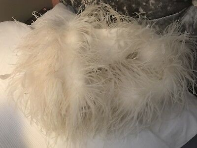 100% Real Ostrich Feather Shrug / Cape Medium