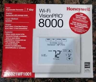 Honeywell Wifi Vision Pro 8000  TH8321WF1001 Programmable Thermostat 7 Day.