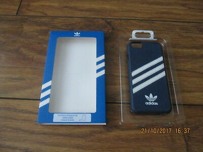 Used Adidas Originals Stitched Iphone 6/6S Case Blue White In Box Ex Cond L@@k