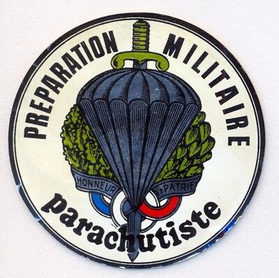 French Paratroop Association Printed Sticker