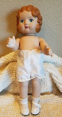 "Daisy Kingdom 18""  Pansy  American Vinyl Doll Molded Hair 1920 Look"