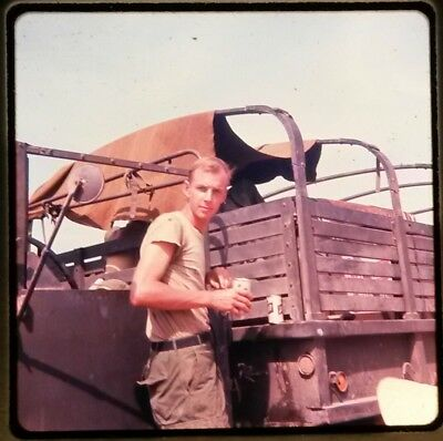 Vietnam Slide- 2 Tour Army GI with 18TH ENGINEER BRIGADE collection 1966-70 #80
